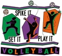 Set It, Spike It, Play It Volleyball T-Shirt - in 27 Colors