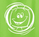 Smiley Face Volleyball Design T-Shirt - in 20 Shirt Colors