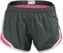 Soffe's Metal Gray & Neon Pink Track Shorts