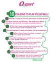 Top 10 Reasons To Play Volleyball T-Shirt - in lots of Colors