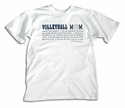 Volleyball Mom Definition Design T-Shirt - in 27 Shirt Colors