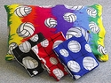Volleyball Print Fleece Pillow Cases in Lots of Colors