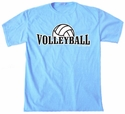 Volleyball Rising Design T-Shirt - in 27 Shirt Colors