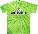 Volleyball Rising Tie-Dye Tee - in 15 Colors