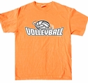 Volleyball Swirl Design T-Shirt - in 27 Shirt Colors
