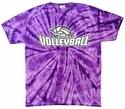 Volleyball Swirl Tie-Dye Tee - in 15 Colors