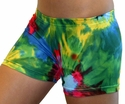 Colorful Tie-Dye Blast Spandex Shorts