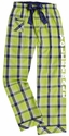 Key Lime Plaid Cotton Pants � Choice of 22 Sport Imprints � Leg or Rear