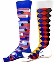 Multi-Color Dots & Diamonds Sport Compression Socks
