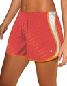 Coral & Orange Dots Champion Double Dry Women's Sport Shorts