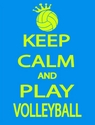 Keep Calm & Play Volleyball Design Turquoise Blue T-Shirt