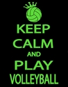 Keep Calm and Play Volleyball Black T-Shirt