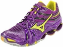 Mizuno Wave Tornado 7 Womens Purple & Yellow Volleyball Shoes