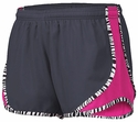 Soffe's Metal Grey & Neon Pink Zebra Pipe Track Shorts