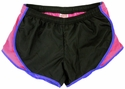 Soffe�s Black & Hot Pink w/ Blue Piping Track Shorts