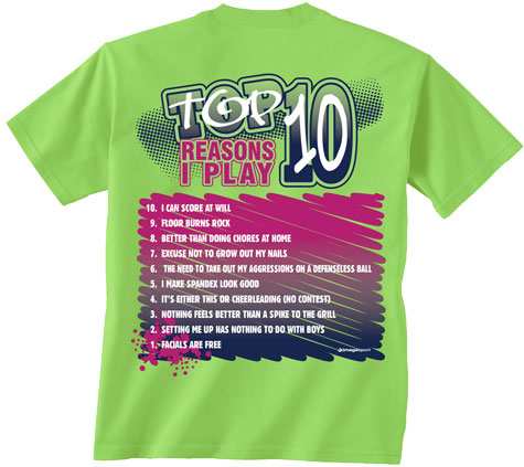 Bright Lime Green 'Top 10 Reasons I Play Volleyball' Short ... 10 Reasons To Play Volleyball