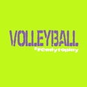 Volleyball #Readytoplay Safety Green T-Shirt