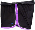 Black & Purple Champion Double Dry Women's Fitness Shorts
