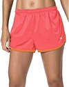 Coral & Orange Champion Mesh Women's Hot Shorts
