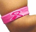 Pink Ribbon Breast Cancer Armbands - in 4 Colors
