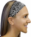 Snow Leopard Spandex Fabric Headband