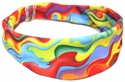 Tie-Dye Ribbons Spandex Fabric Headband