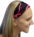 Red Lightning Spandex Fabric Headband