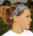 Thin Zebra Stripe Spandex Fabric Headband