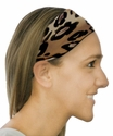 Spotted Cheetah Print Spandex Fabric Headband