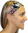 Neon Hearts Spandex Fabric Headband