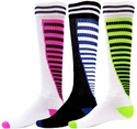 Zipper Stripe Knee-High Socks - in 10 Colors