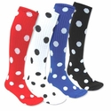 Polka-Dot Knee-High Socks - in 23 Colors