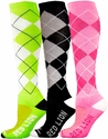 Argyle Knee High Sock � in 6 Colors