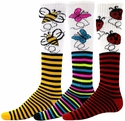 Bugs & Stripes Knee-High Socks � in 3 Fun Styles