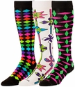 Neon Diamonds & Pinwheel Knee-High KraziSox � in 3 Colors