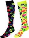 Neon Smiley Face Knee-High Socks - in 2 Colors
