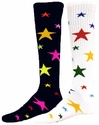 Multi-Color Star Knee High Socks - in 2 Styles