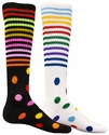 Multi-Color Stripe and Dot Knee High Socks � in 2 Colors