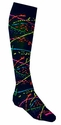 Neon Paint Splatter Knee-High Socks