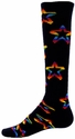 Rainbow Multi-Color Star Knee High Socks