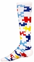 Autism Awareness Puzzle Knee-High Socks
