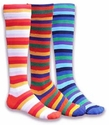 Multi-Color Prism Knee High Socks - in 3 Patterns