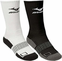 Mizuno Performance Plus Crew Socks - in White or Black