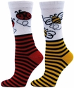 Bugs and Stripes Crew Socks � in 2 Fun Styles