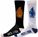 Burning Fire Crew Socks - in 2 Colors