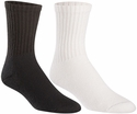 Acrylic Athletic Crew Socks - in Black or White