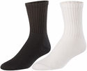 Cotton Athletic Crew Socks - in Black or White