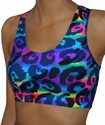 Feisty Cat Tie-Dye Sports Bras