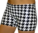 Houndstooth Printed Spandex Shorts