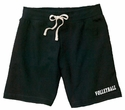 Black Volleyball Leg Imprint Fleece Bermuda Short
